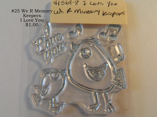 #25 We R Memory Keepers I Love You $1.00