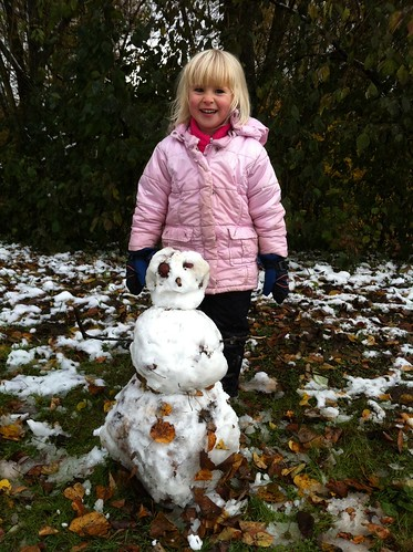Autumnal snow man