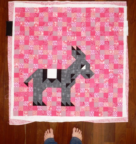 HST Donkey Quilt, in progress