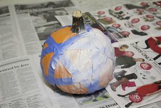 Halloween pumpkin: Step 3