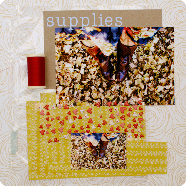 {autumn card} supplies