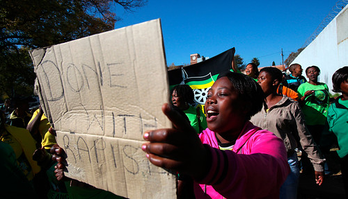 South African women march against gender violence. They are calling for awareness and consciousness around women's issues. by Pan-African News Wire File Photos