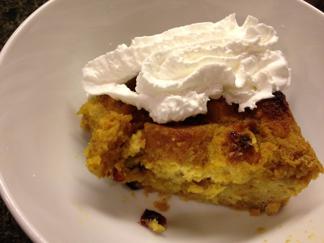 Pumpkin Bread Pudding 1