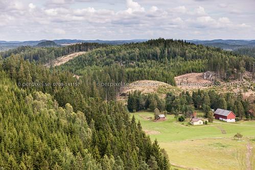 3 natur sverige swe västragötaland hestra flygfoto