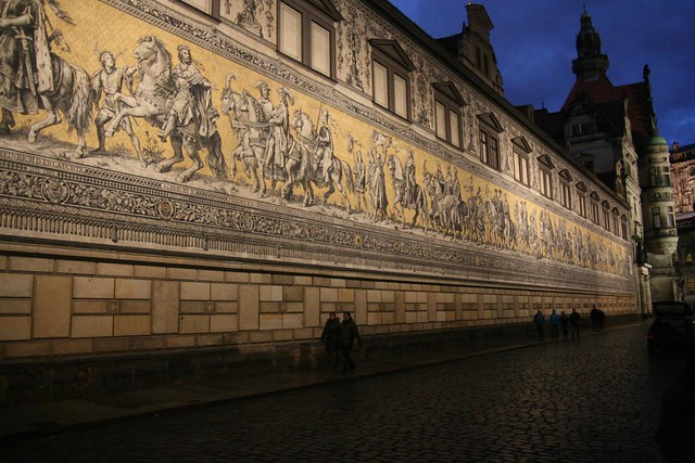 Nächtlicher Fürstenzug, Dresden