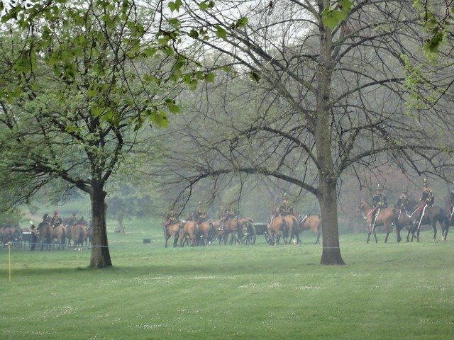 41 Gun Royal Salute in Green Park