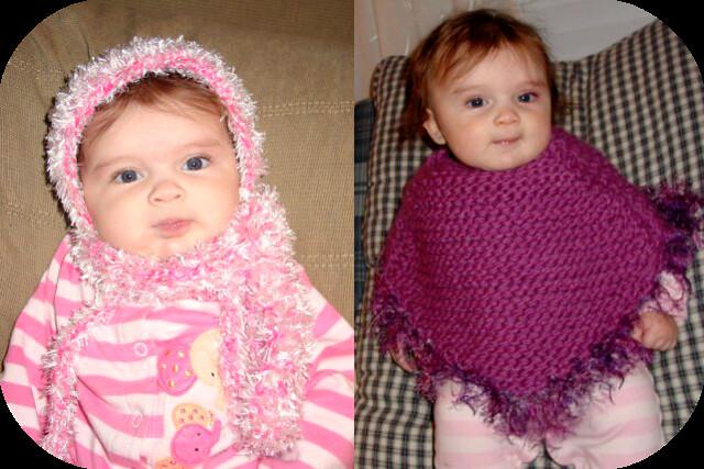 poncho & hat n scarf