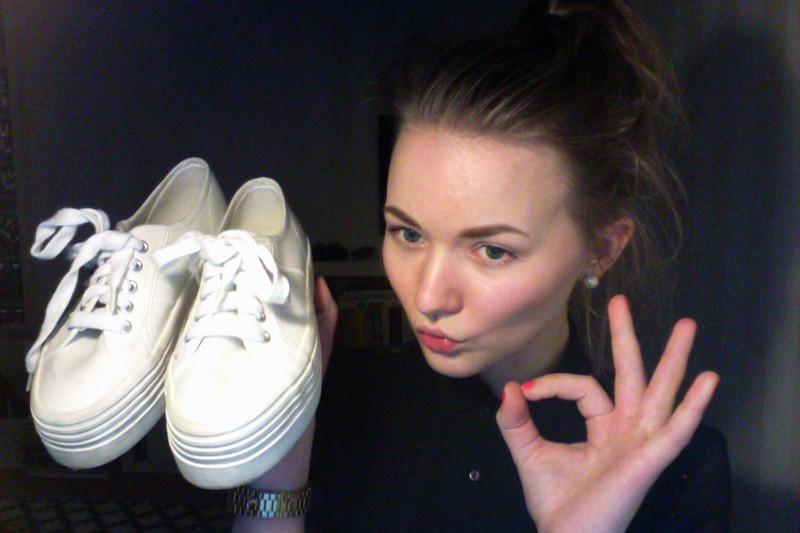 vagabond white flatform sneakers