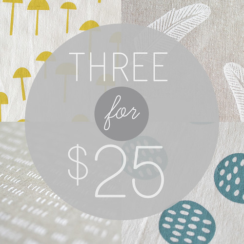 3for$25 linen/cotton panels