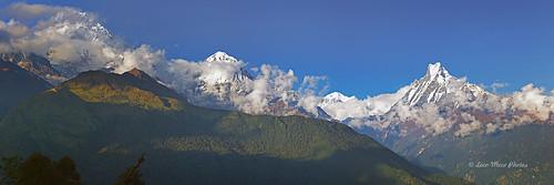 nepal panorama trekking annapurna himalayas fishtail ptgui tadapani hiunchuli machapuchhre