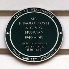 Photo of Francesco Paolo Tosti green plaque
