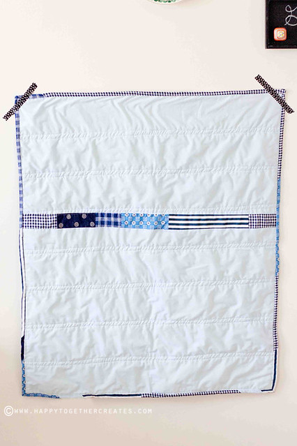 scrappy baby quilt