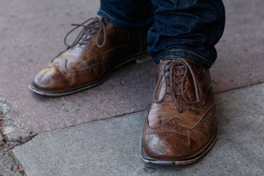 donald_shoes street style, street fashion, men, San Francisco, Valencia Street