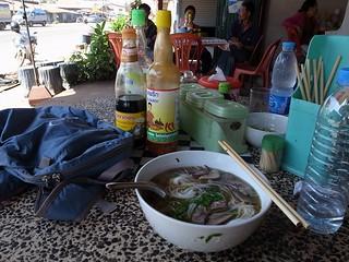 ラオスでの昼食