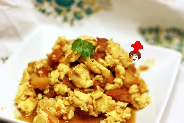 蕃茄炒蛋 tomoto egg
