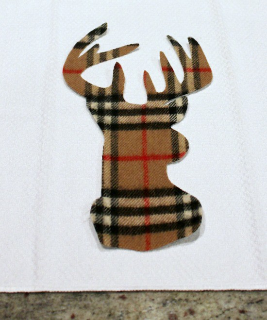 Reindeer Applique Tea Towel
