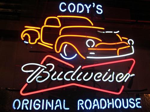 Cody's Original Roadhouse & Budweiser Neon Sign – HiNeon