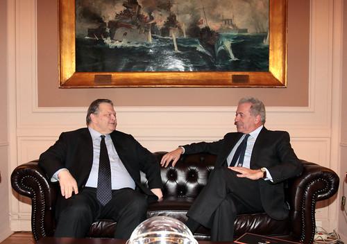 Συνάντηση με τον Πρόεδρο του ΠΑΣΟΚ Ε. Βενιζέλο (22/1/13)