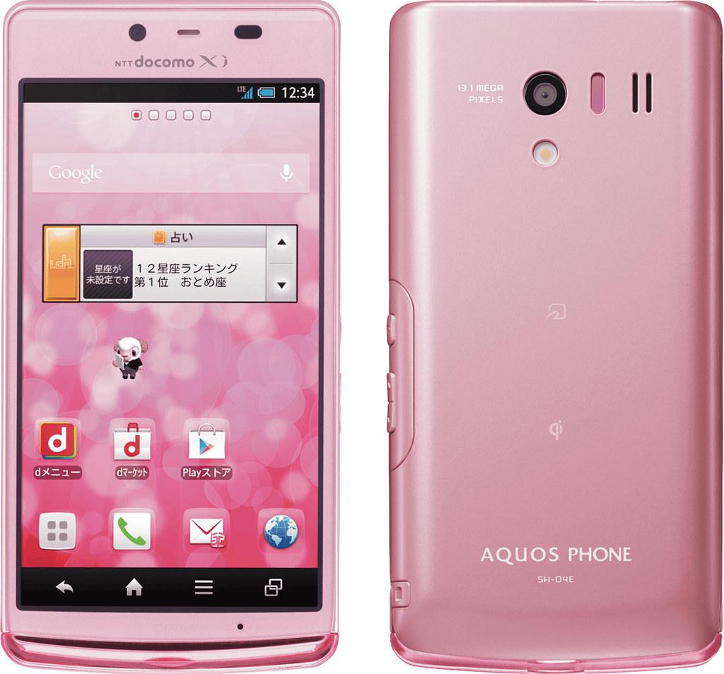 AQUOS PHONE EX SH-04E 実物大の製品画像