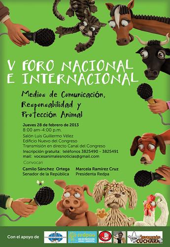 V foro nacional e internacional, medios de comunicación, responsabilidad y protección animal by alter eddie