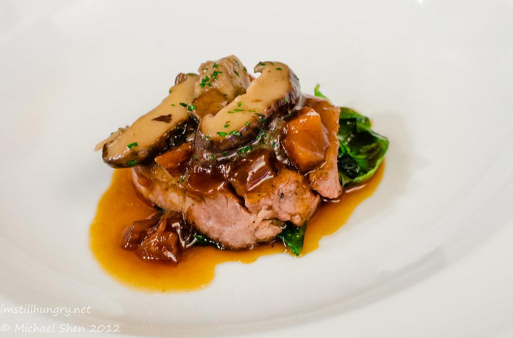 Tetsuya's - veal tenderloin w/shiitake mushrooms & veal jus