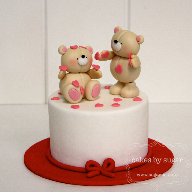Wedding Cake Toppers With Large And Small Dog