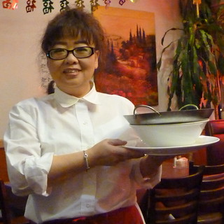 Woman at work--waitress