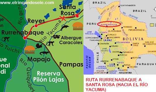 Carretera entre Rurrenabaque y Santa Rosa