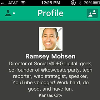 "<hey friends> If you're jumping on board using the new App 'Vine', you can follow me, ""Ramsey Mohsen"". It's been really interesting tracking it after the launch the past few days. When Viddy was released, I thought their ""Instagram for Video"" formula was"