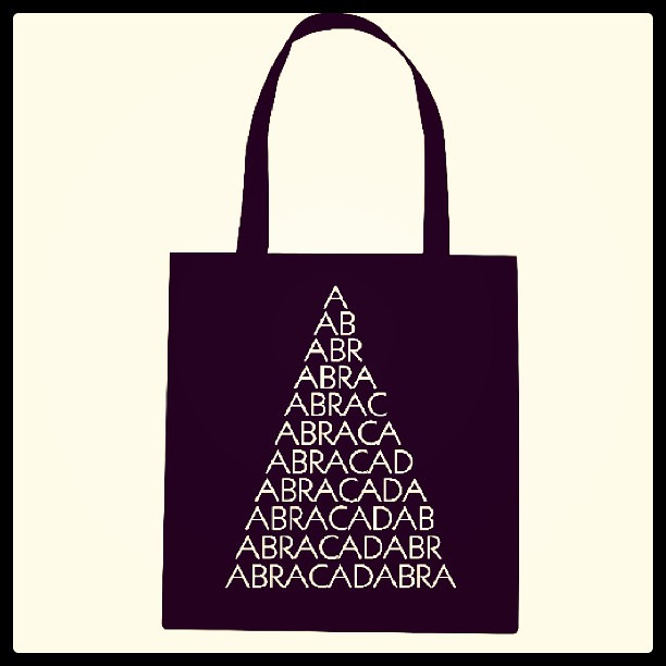 Abracadabra totes will be in my Big Cartel shop soon!