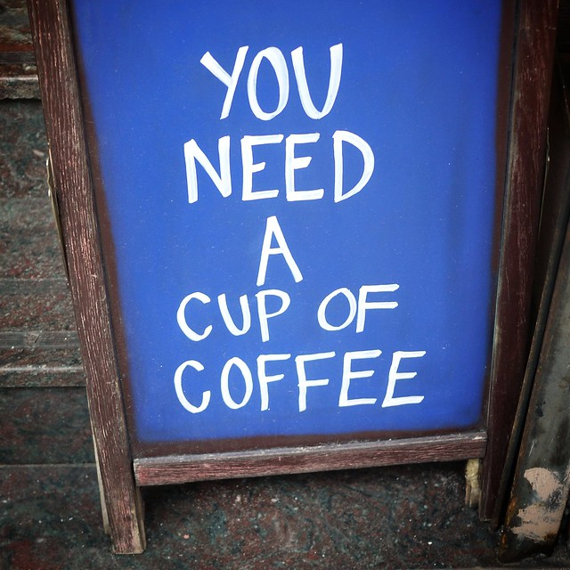 Subliminal coffee sign #walkingtoworktoday