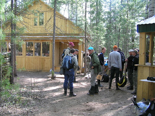 The participants of Scientific field excursion - 2009 near the house fasade
