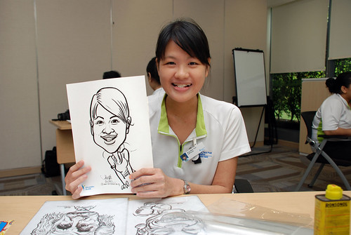 caricature live sketching for Khoo Teck Puat Hospital, Nurses' Day - 2