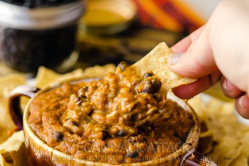 Cheezy Soyrizo Bean Dip for Vegan Labor Day Eats!