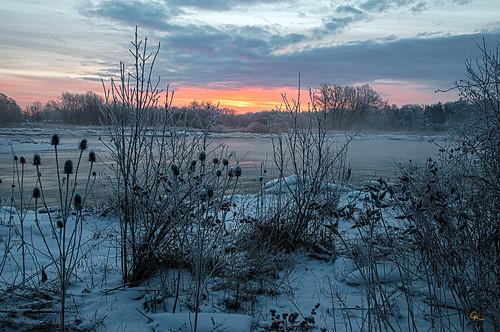 winter sunrise river grand 2013 waterlooregion