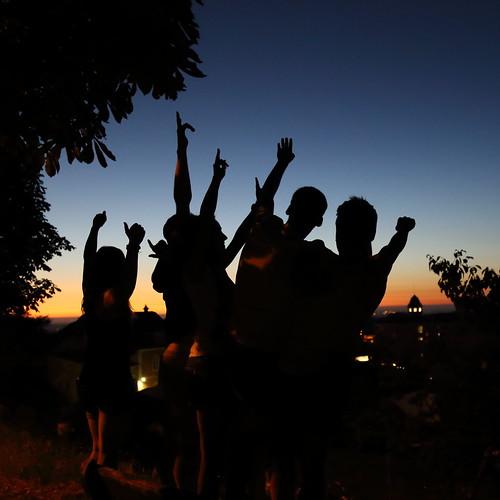 sunset people persone profilo