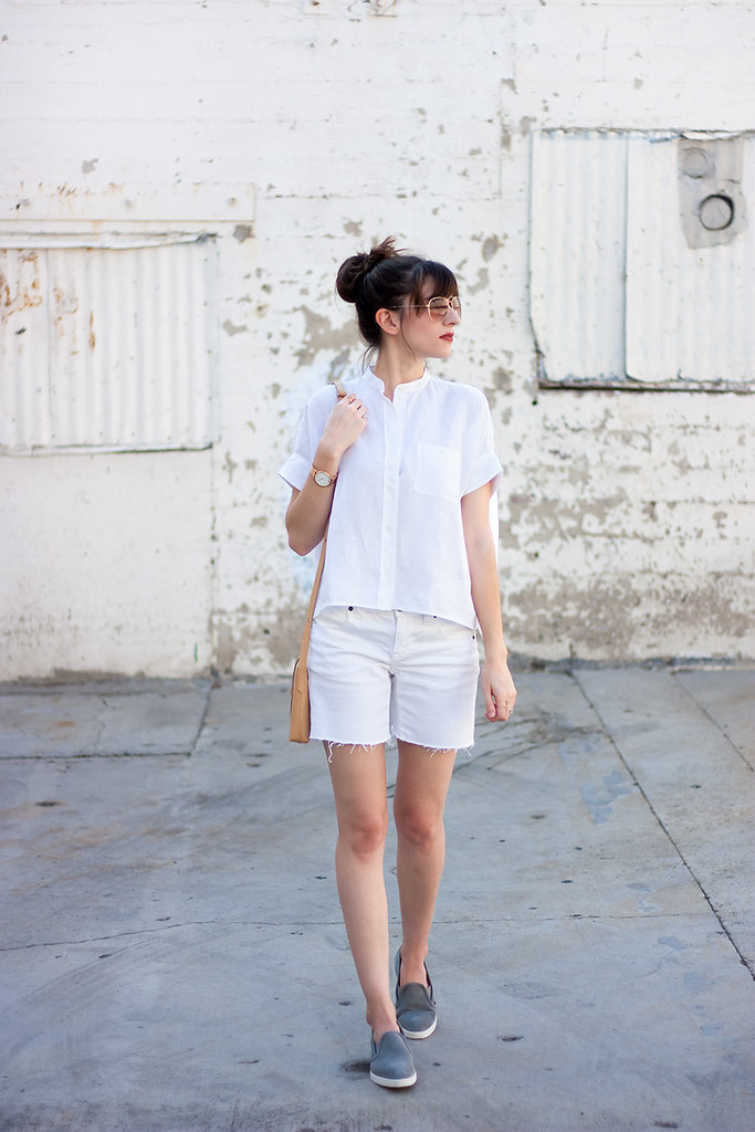 All White Summer Outfit, Everlane
