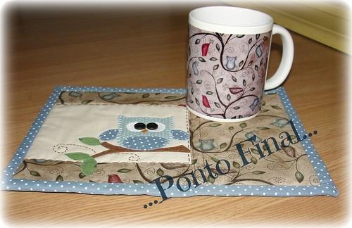 ...Caneca de coruja e mug rug... by Ponto Final - Patchwork