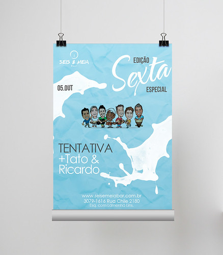 Poster Sexta - Seis & Meia by chambe.com.br