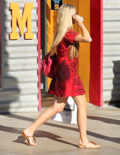 Locals like shopping and being fashionable - Santa Monica, California, USA