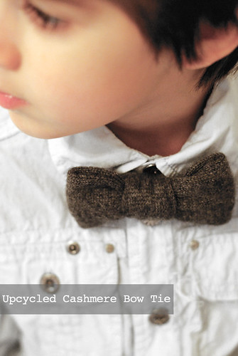 upcycled cashmere bow tie
