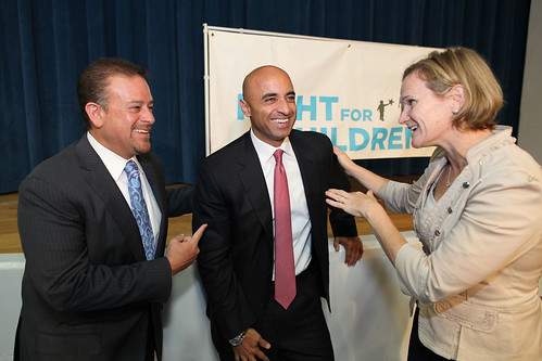 Raul Fernandez (Chairman, Fight Night), UAE Ambassador Yousef Al Otaiba and Susan Schlaeffler, CEO of KIPP DC