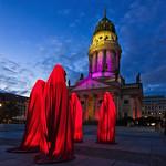 Festival of Lights 2012 in Berlin , Die Wächter der Zeit auf dem Gendarmenmarkt