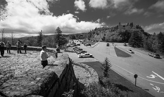 Newfound Gap overlook (B&W)