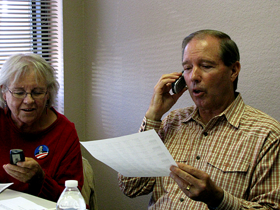 U.S. Senator Tom Udall Phone Banks for President Obama
