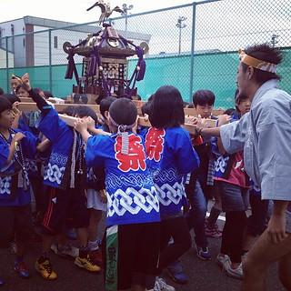 2012/10/14 蕨市郷町会 祭り 子ども神輿