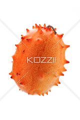 kiwano melon isolated on white