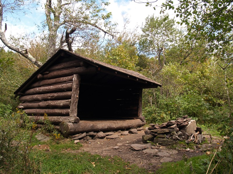 Devil's Acre Lean-to on the Devil's Path Near Hunter Mountain