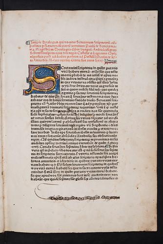 Manuscript title-page supplied in Paulus de Sancta Maria: Scrutinium scripturarum