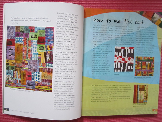 Spread from Gillman's book Free-form quilting